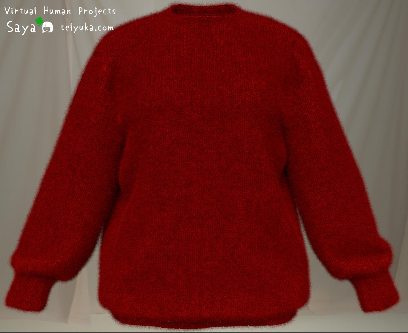 Saya 3d персонаж — визуализация свитера