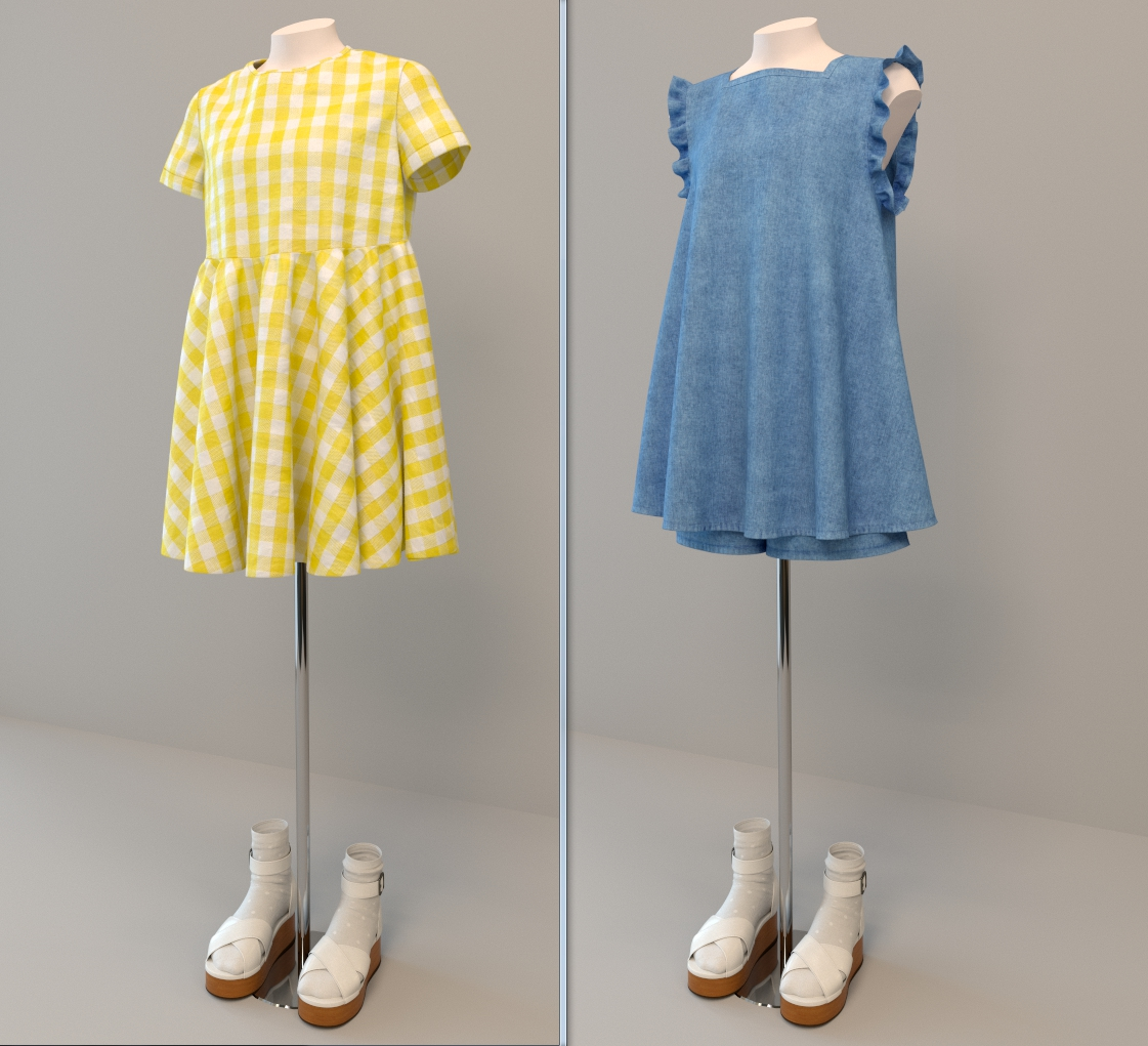 Моделирование, Текстурирование и Визуализация одежды