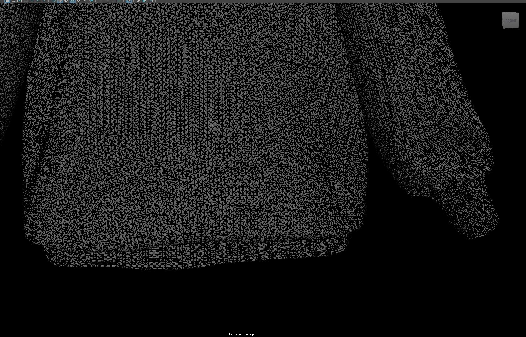Моделирование свитера полигонами