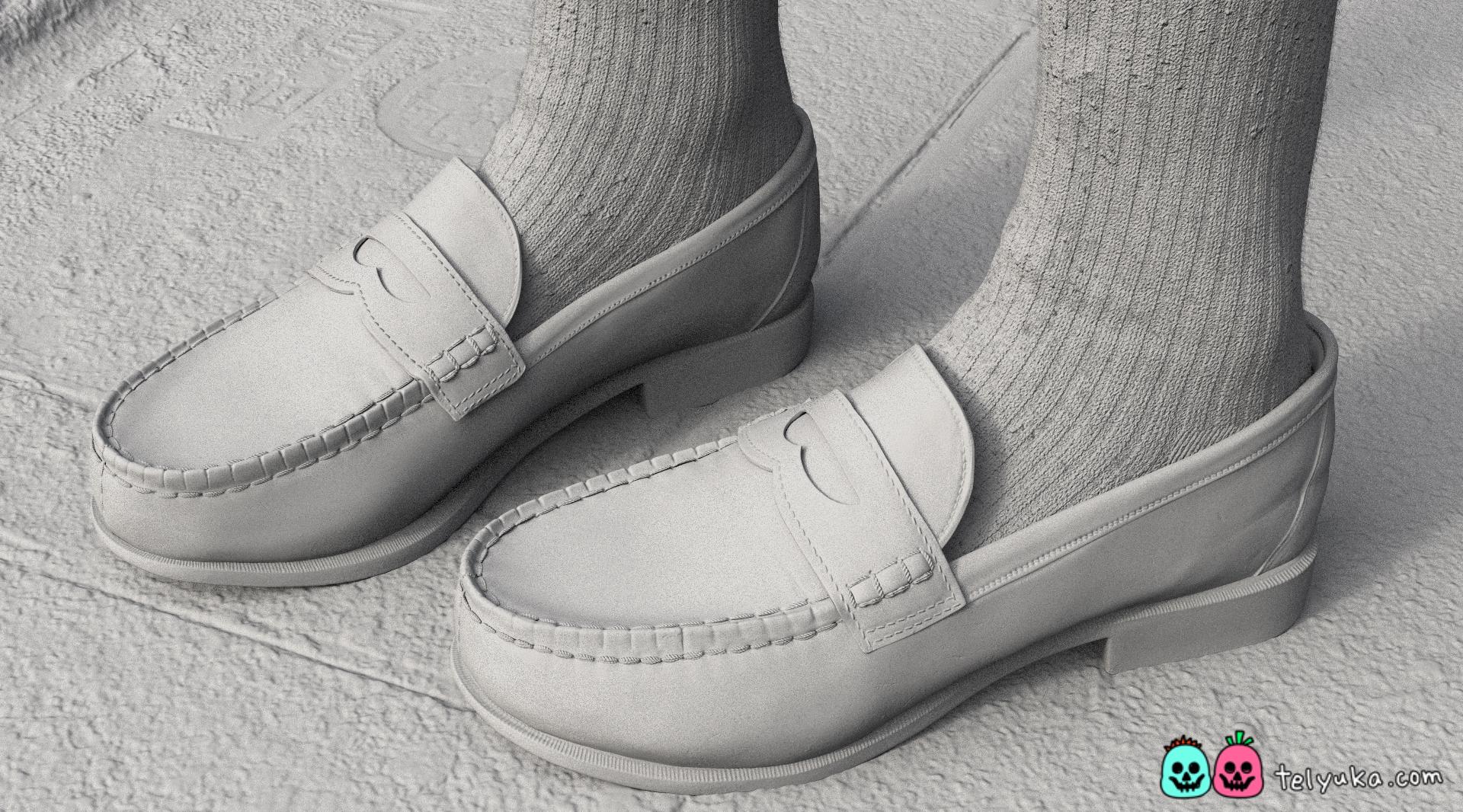 Моделирование и текстурирование детализации обуви