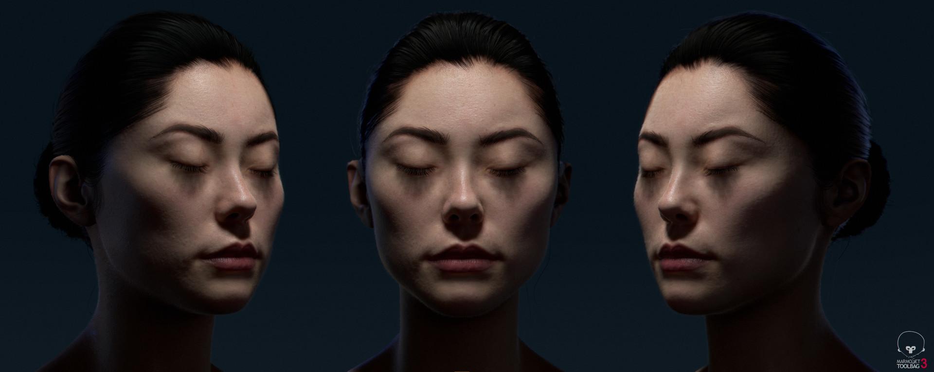 3D визуализация, портретное освещение, SSS эффект